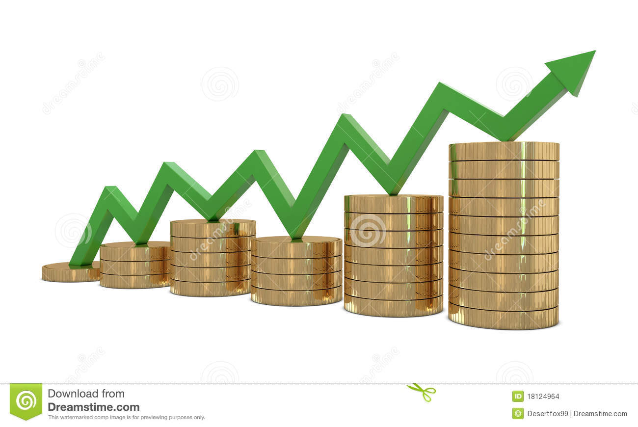 Finance Growth And Green Line Stock Illustration