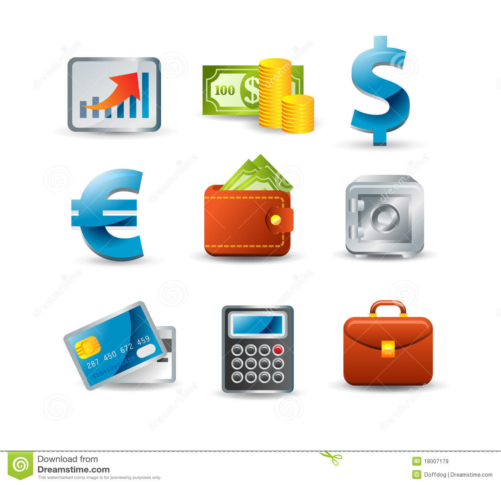 Finance Icon Set: Finance Icon Set Royalty Free Stock Images