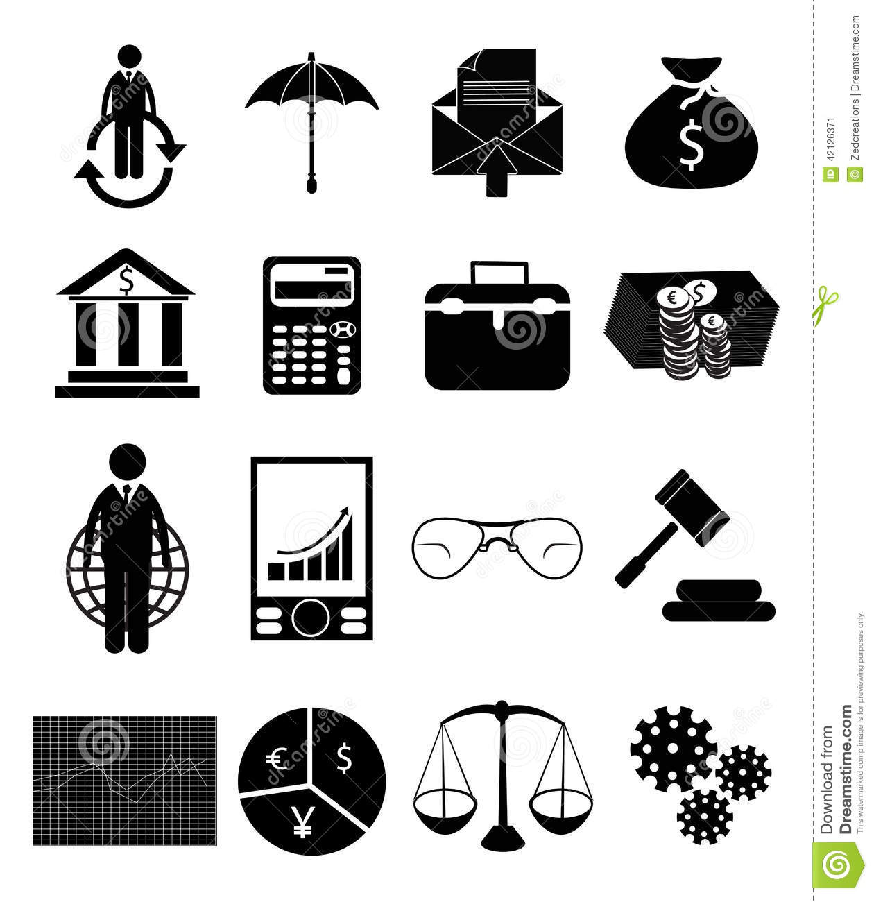 Finance Icon Set: Finance And Investment Icon Set Cartoon Vector