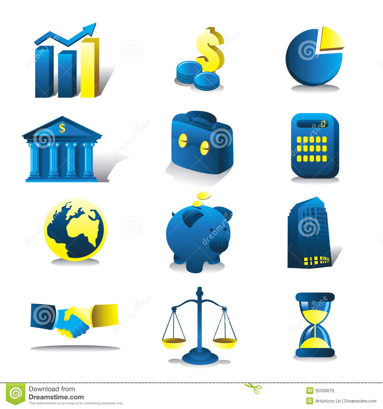 Finance: Finance Icons Stock Vector. Image Of Financial, Drawing