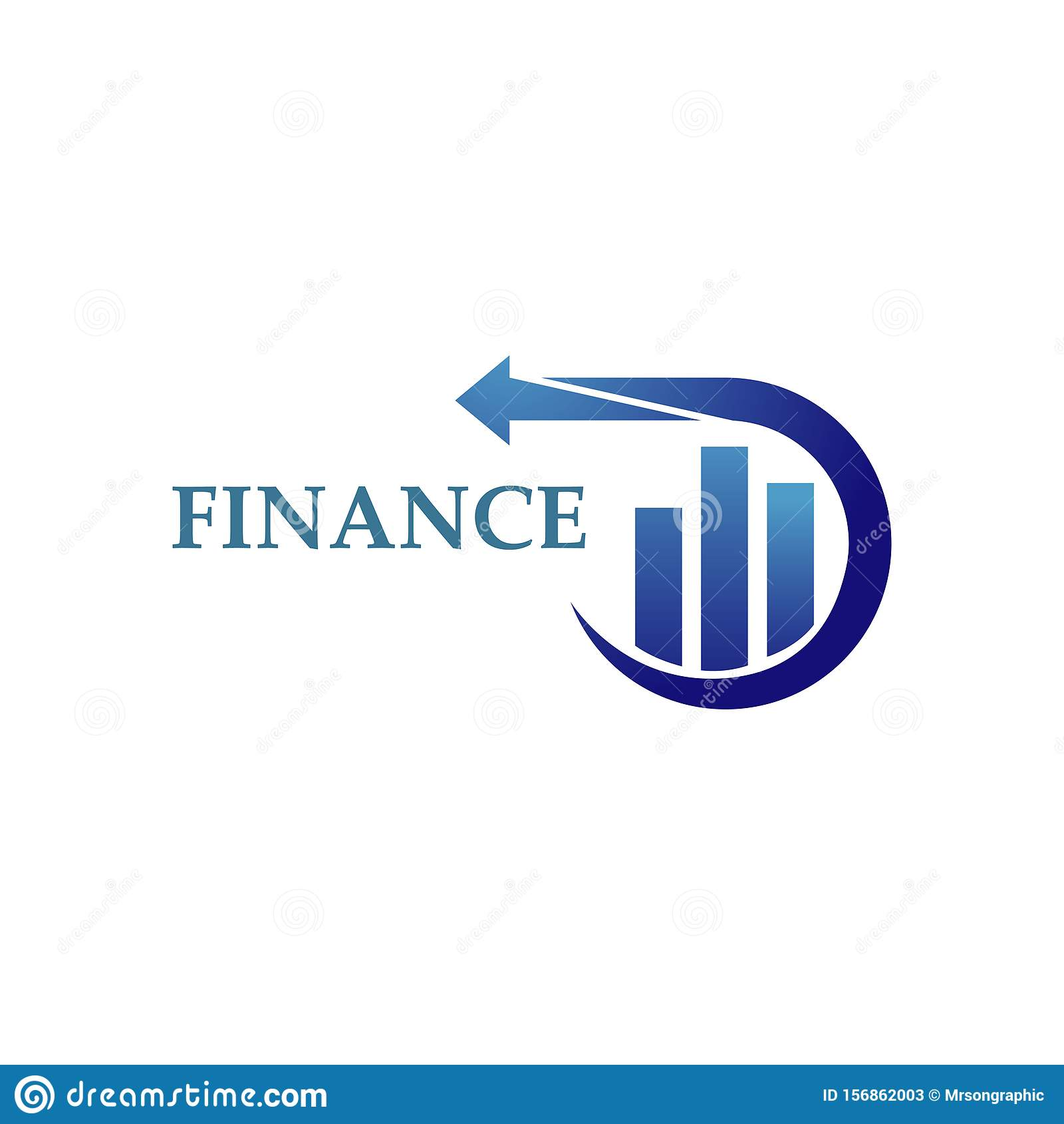 Finance Logo Design Template . Vector Illustration Stock