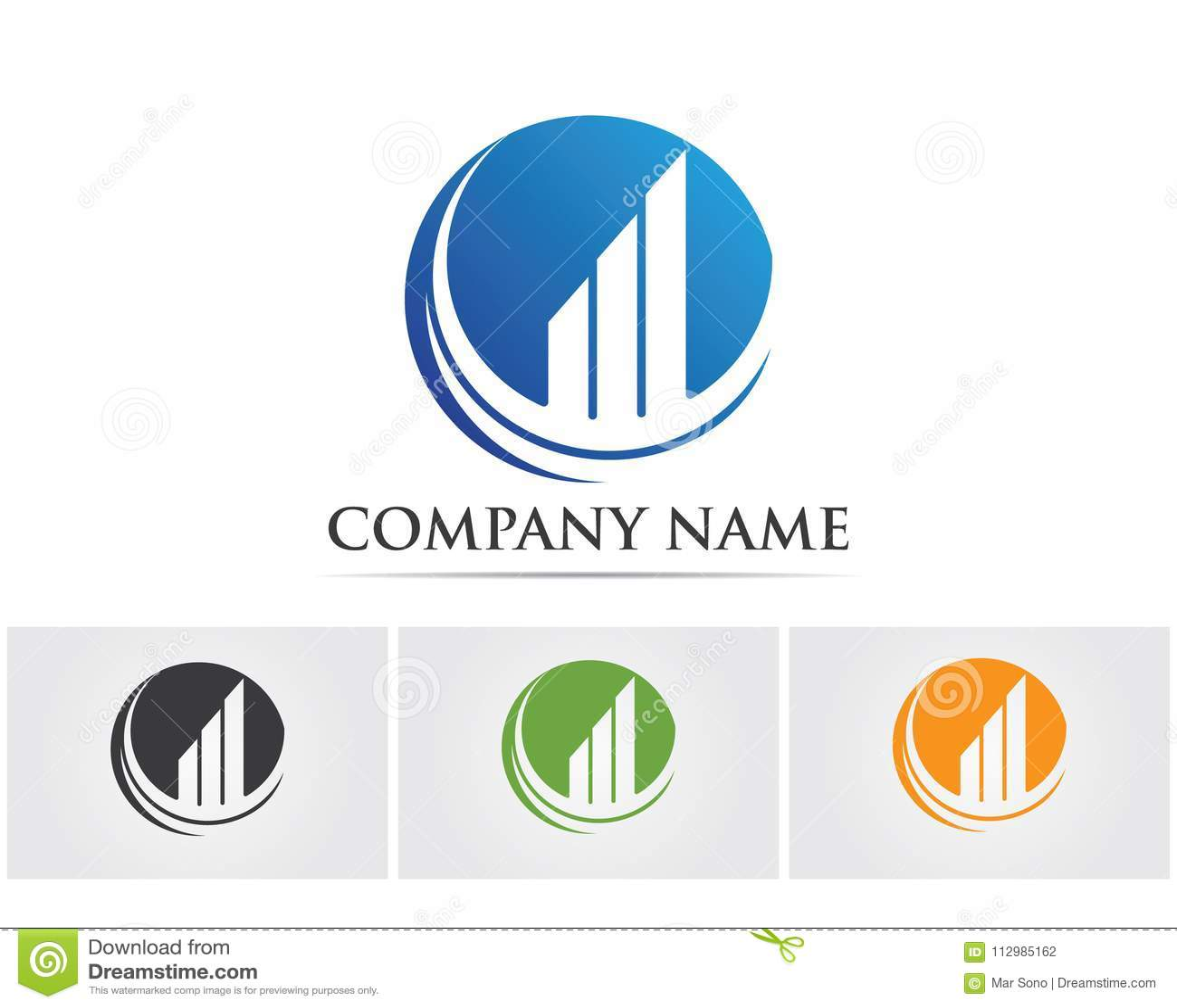finance logo and symbols vector concept illustration..
