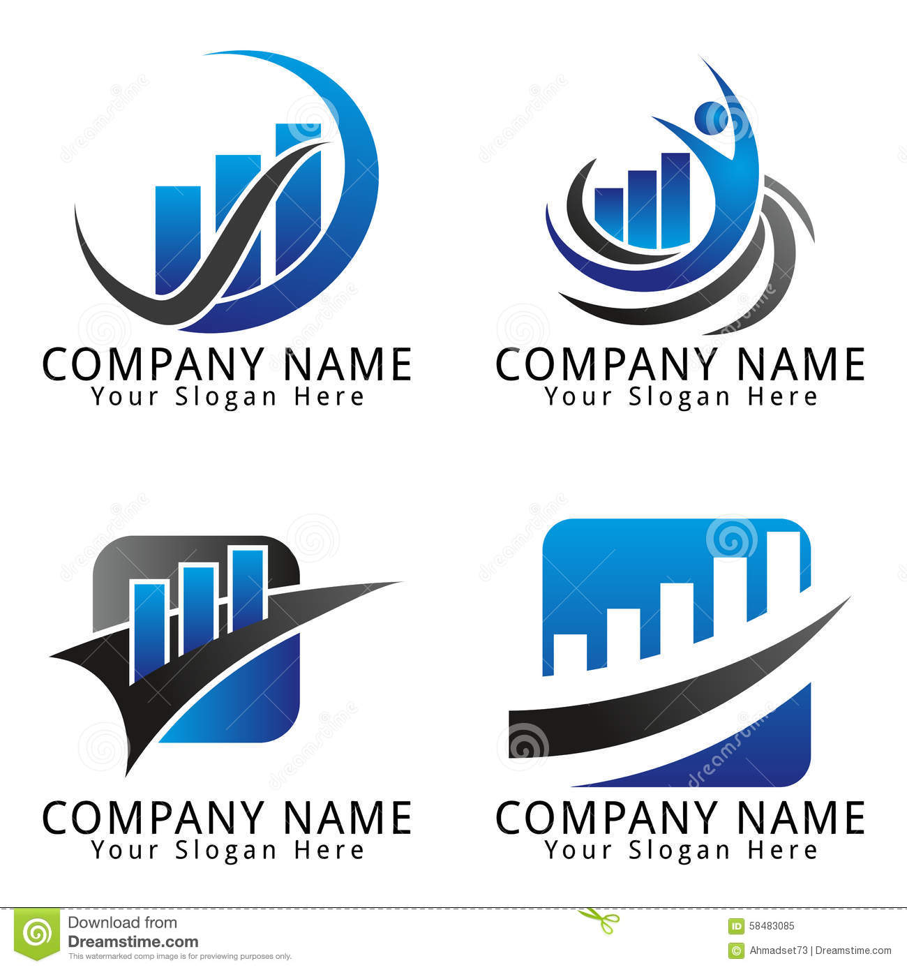 Finance and Marketing Concept Logo Design Template For Your Business ...