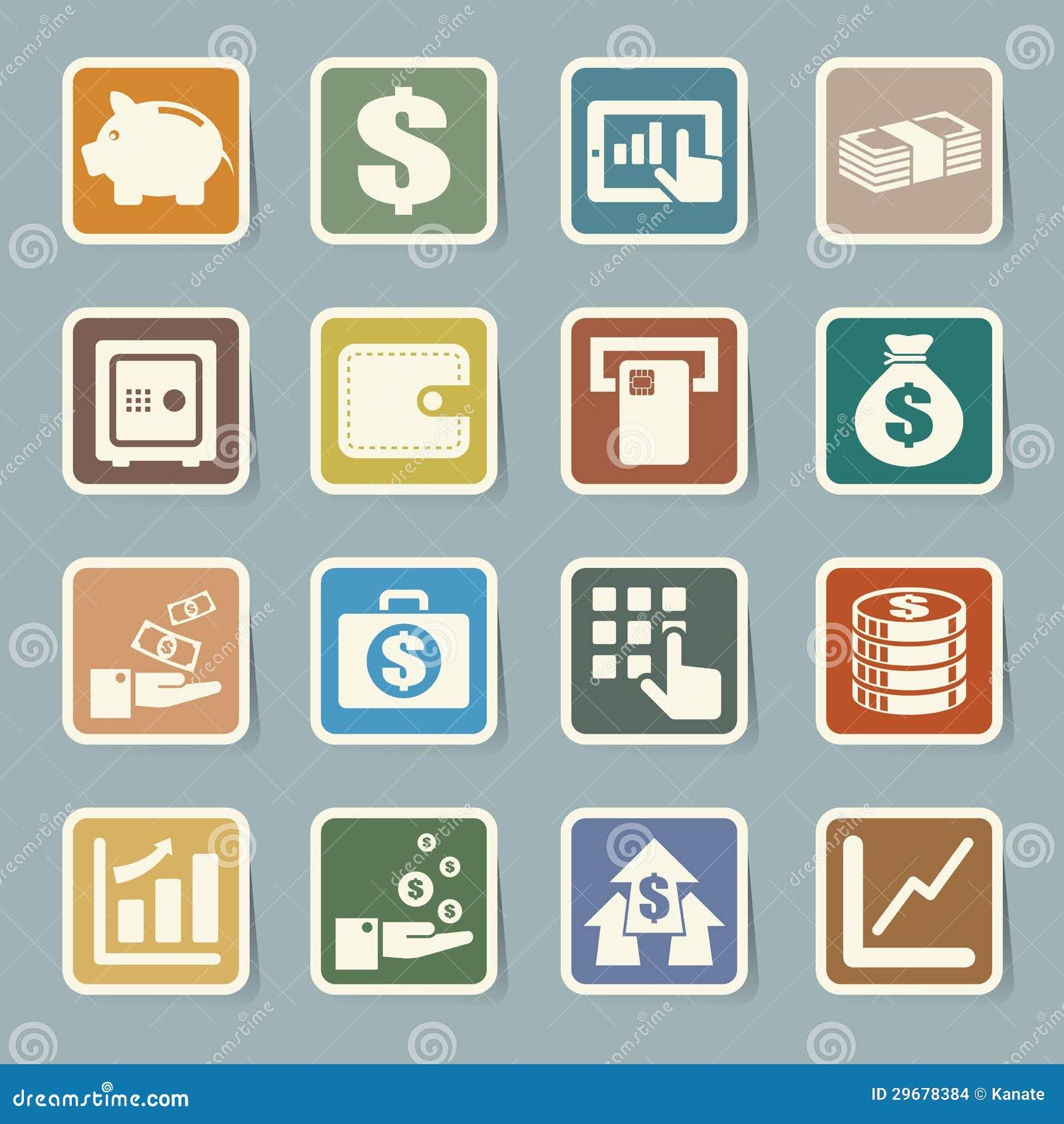 Finance Icon Set: Finance Money Icon Set, Vector Illustration