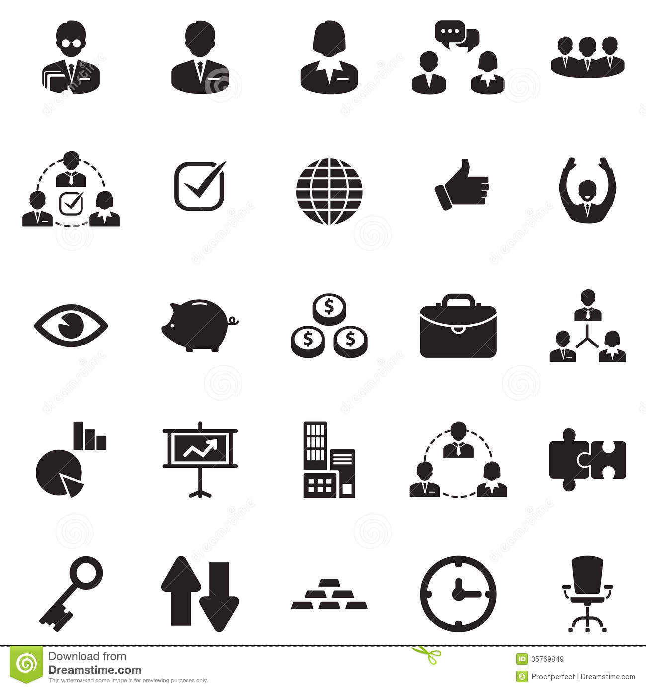 Finance, Office & Business Icons Royalty Free Stock Images ...