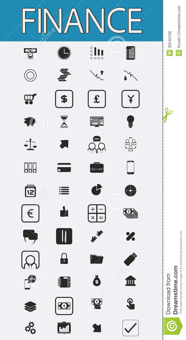 Finance Pictograms Set Royalty Free Stock Photos Image