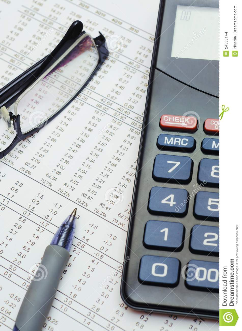 Finance Report Business Stock Images Image 24833144