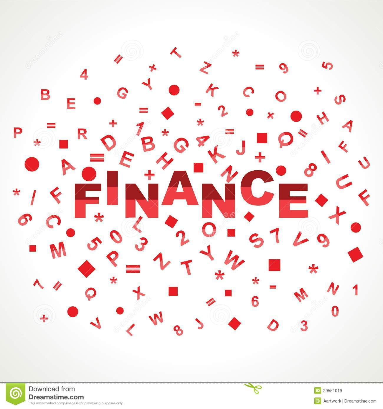 Finance Words: Finance Word With In Alphabets Royalty Free Stock Images