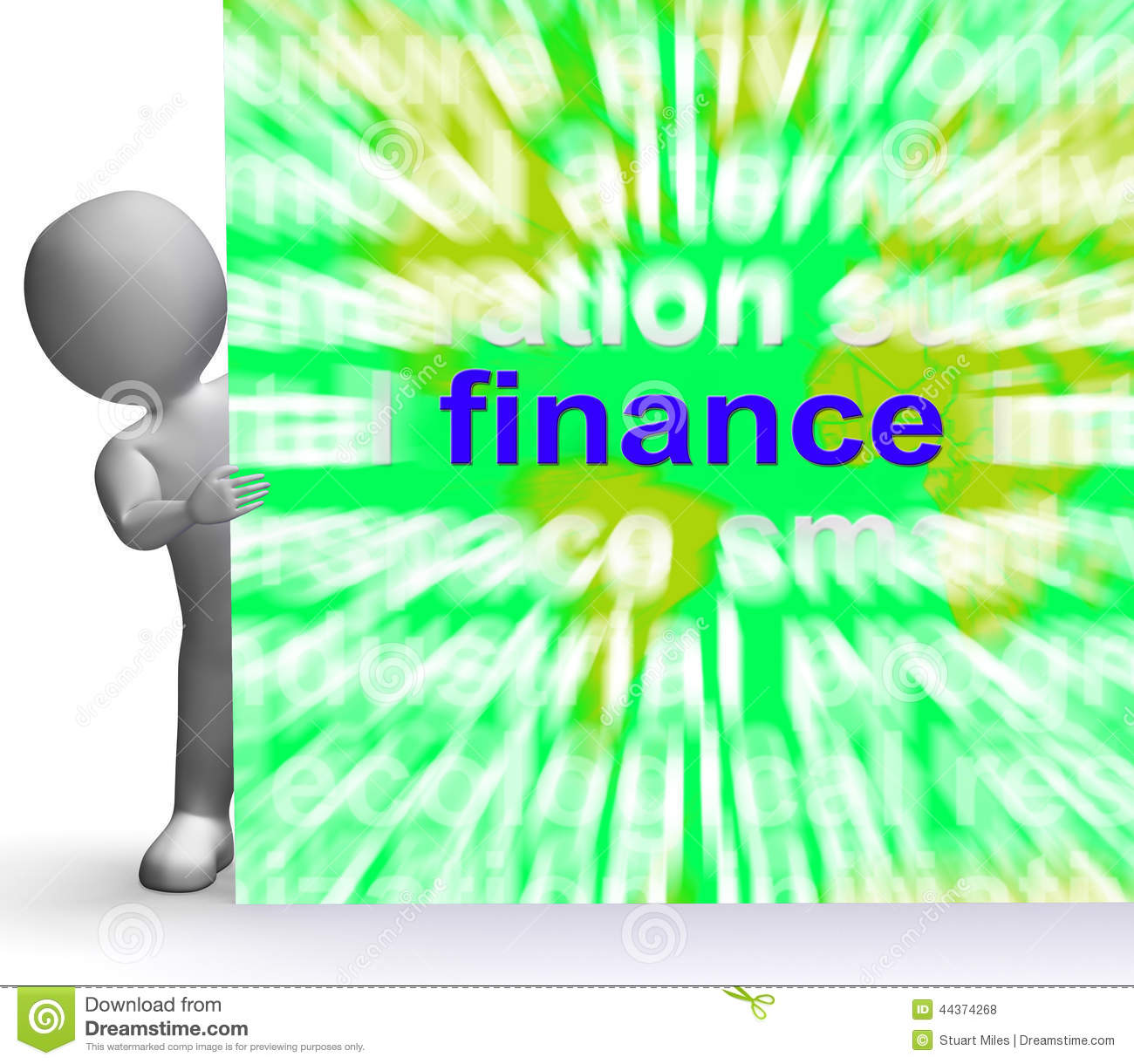 Finance Words: Finance Word Cloud Stock Image