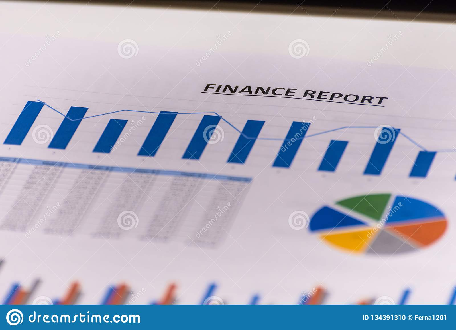 Finances d affaires, comptabilité, statistiques et concept analytique de recherches l analyse représente graphiquement la barre d