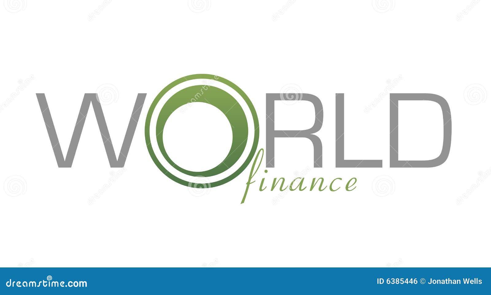 Finances du monde de logo