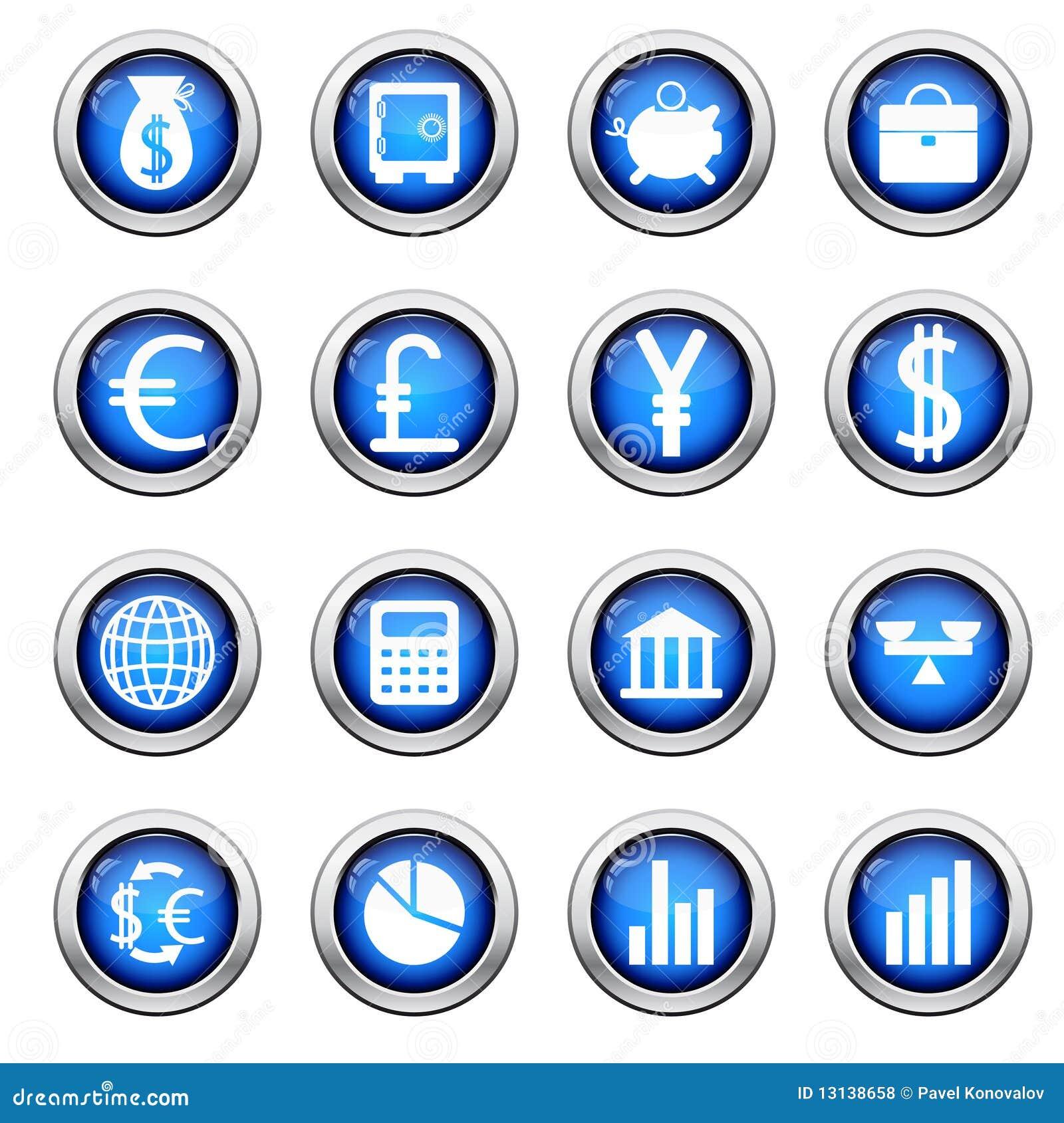 Financiële geplaatste pictogrammen
