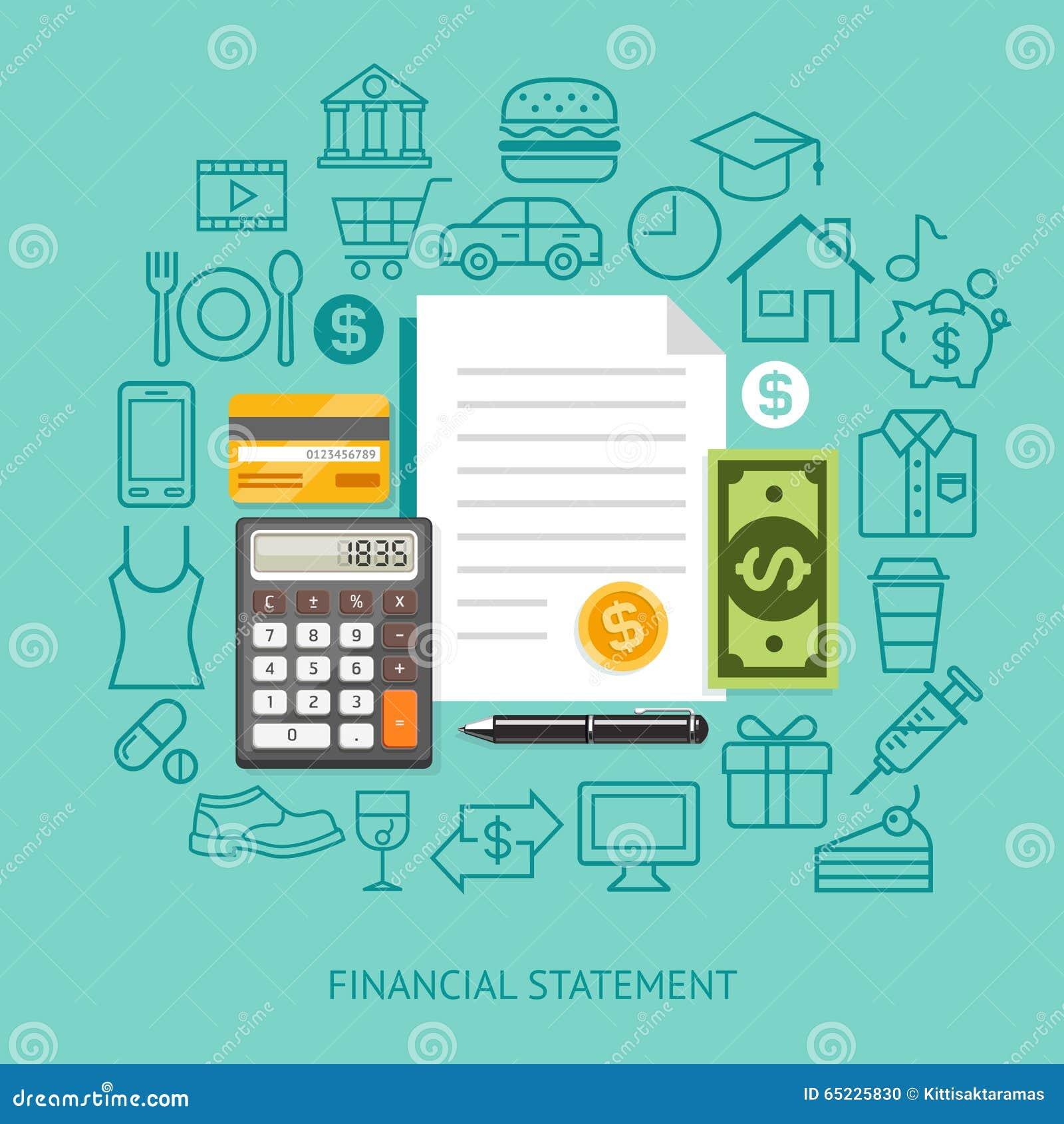 Financiële staat Conceptuele Vlakke Stijl Vector illustratie
