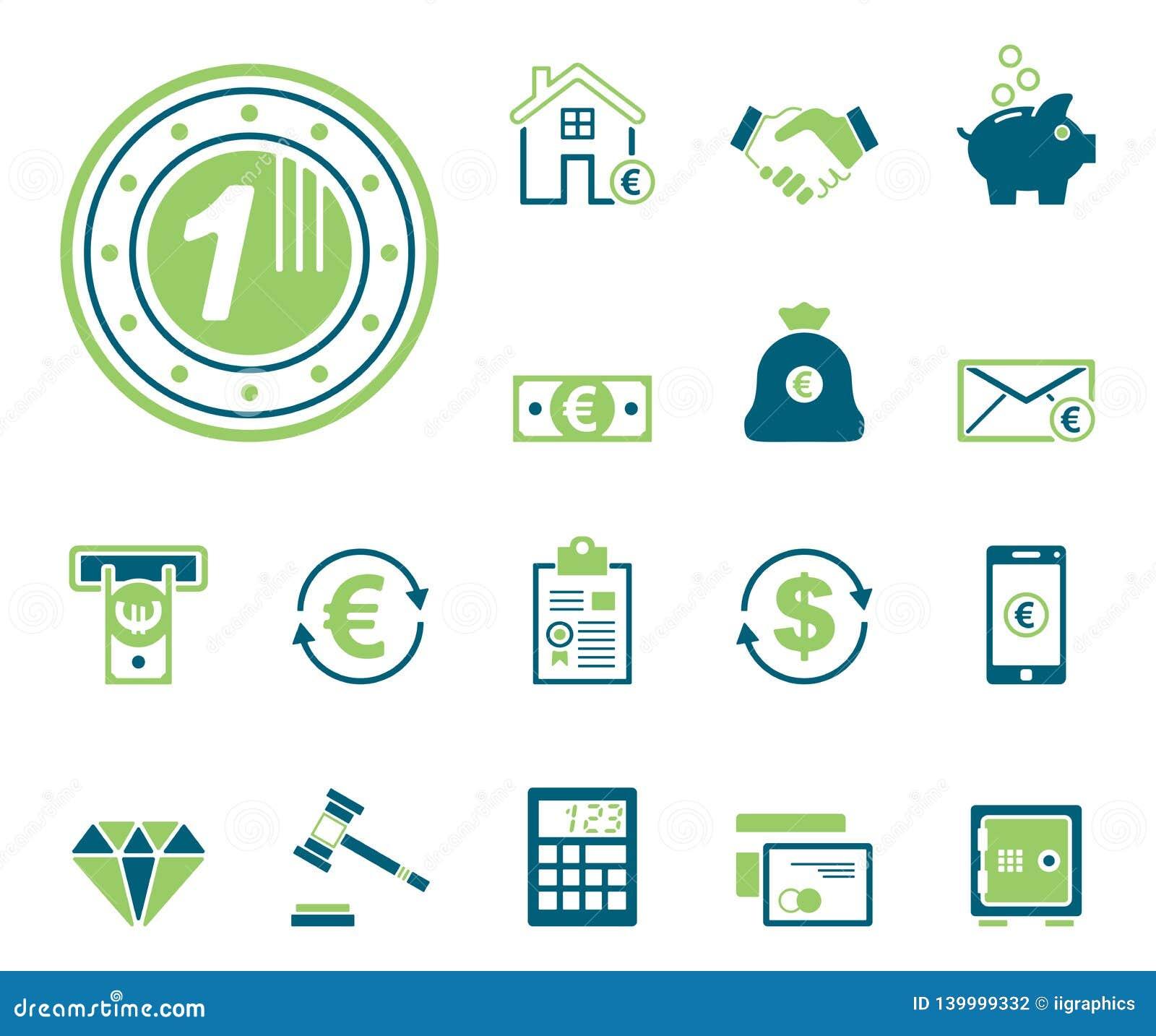Financiën & Bank - Iconset - Pictogrammen