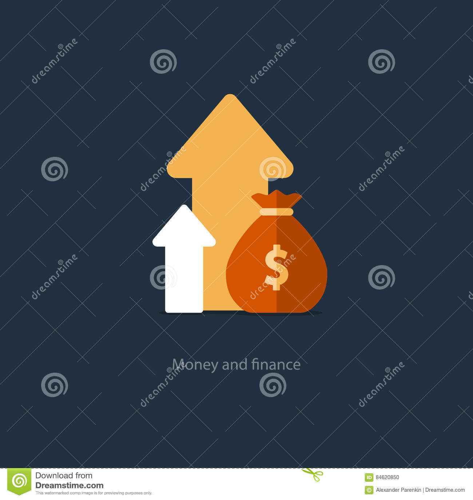 Financiën en investeringsbeheer, begroting planning, samengestelde interest, inkomen