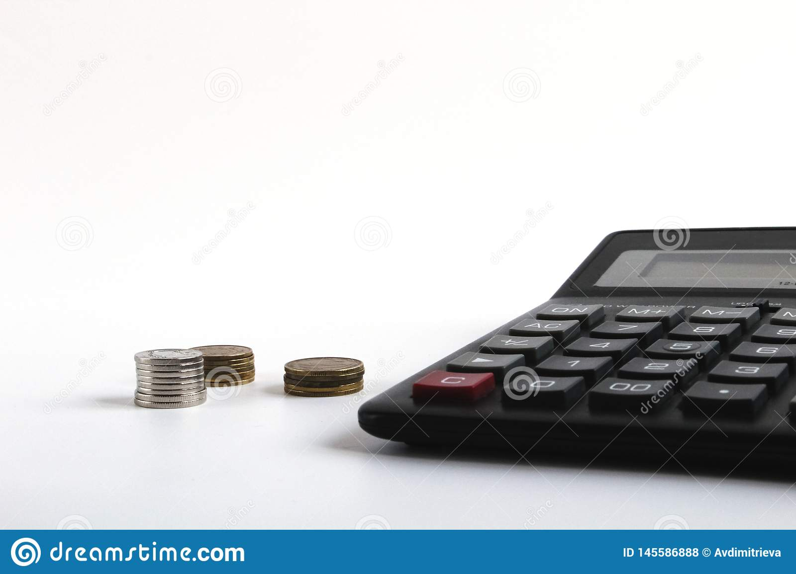 Financial Accounting Money Calculator On Table Business Finance Saving Money Taxes Accounting Or Investment Concept Coin Stock Photo Image Of Calculator Housing 145586888