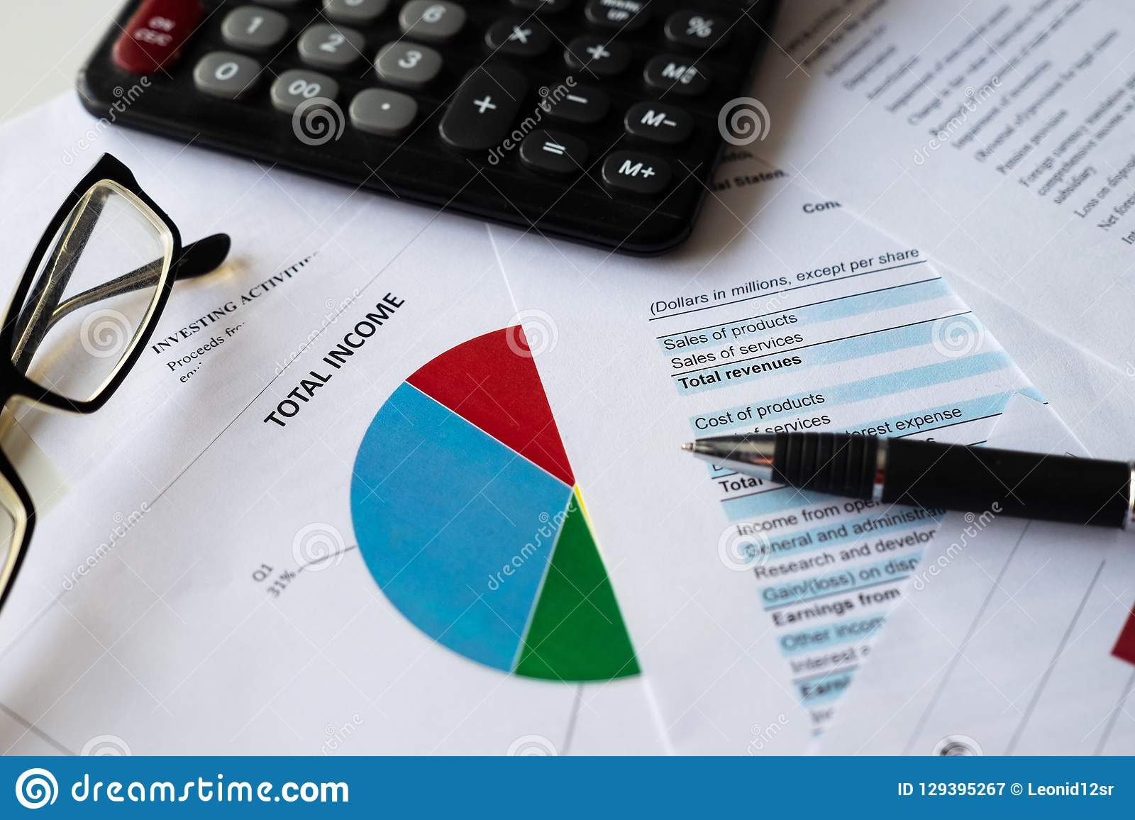 Financial accounting stock market with graphs analysis