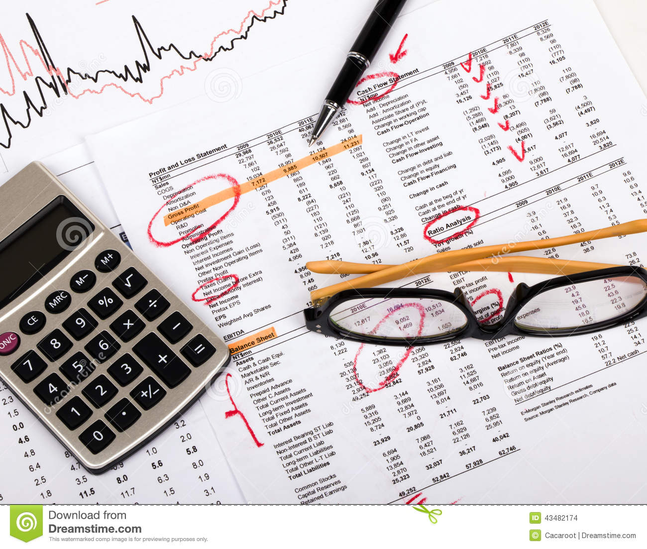 Finance Graph: Financial Analysis Stock Photo. Image Of Fund, Diagram