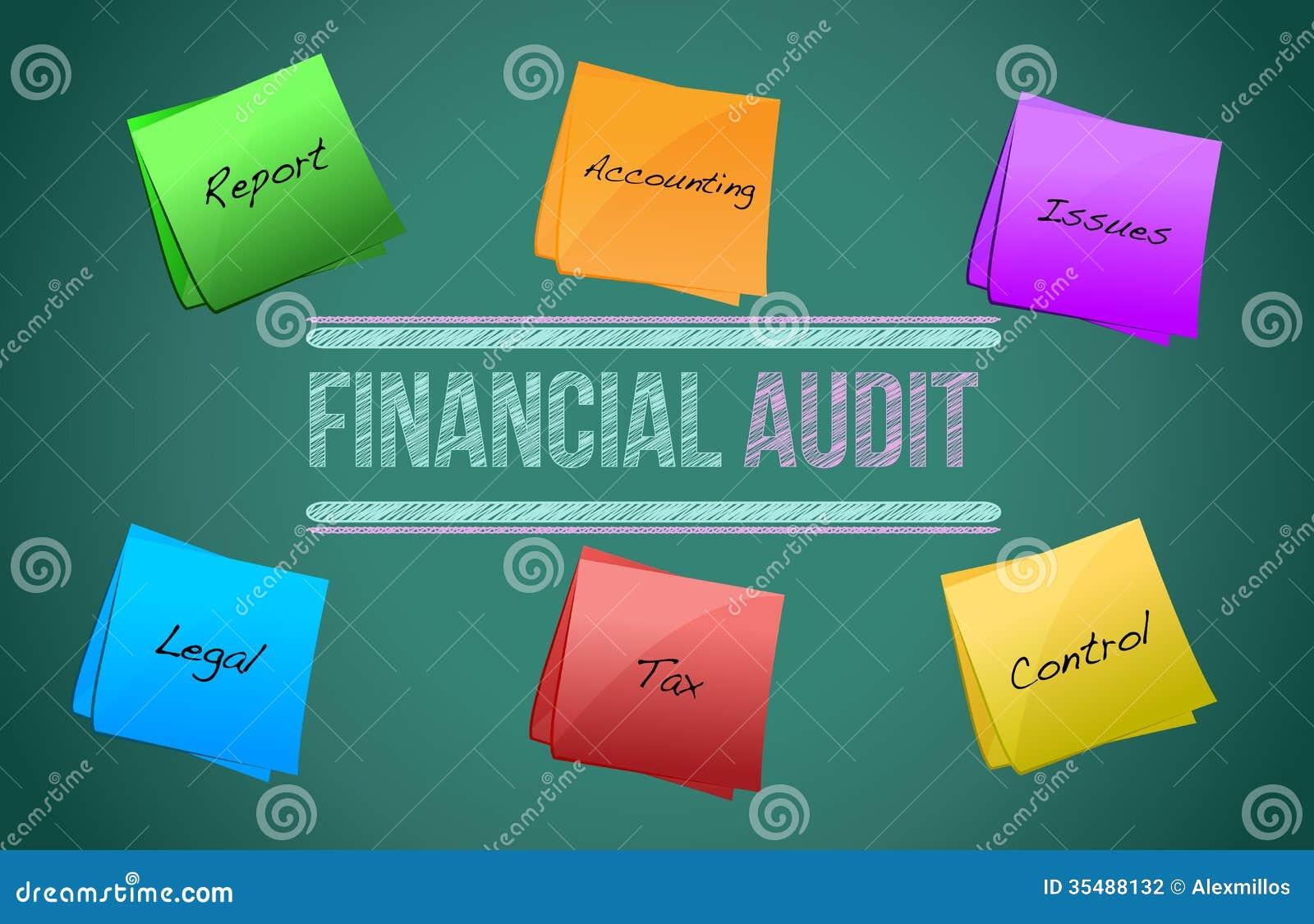 Financial Audit Diagram Illustration Design Stock Photography ...