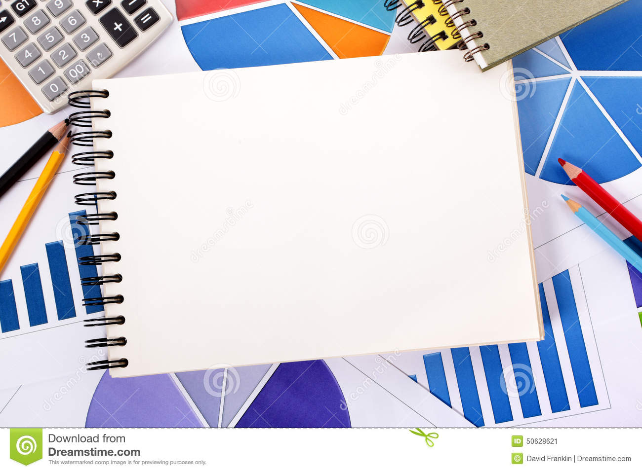 Financial Accounting Background Blank Notebook Copy Space ...