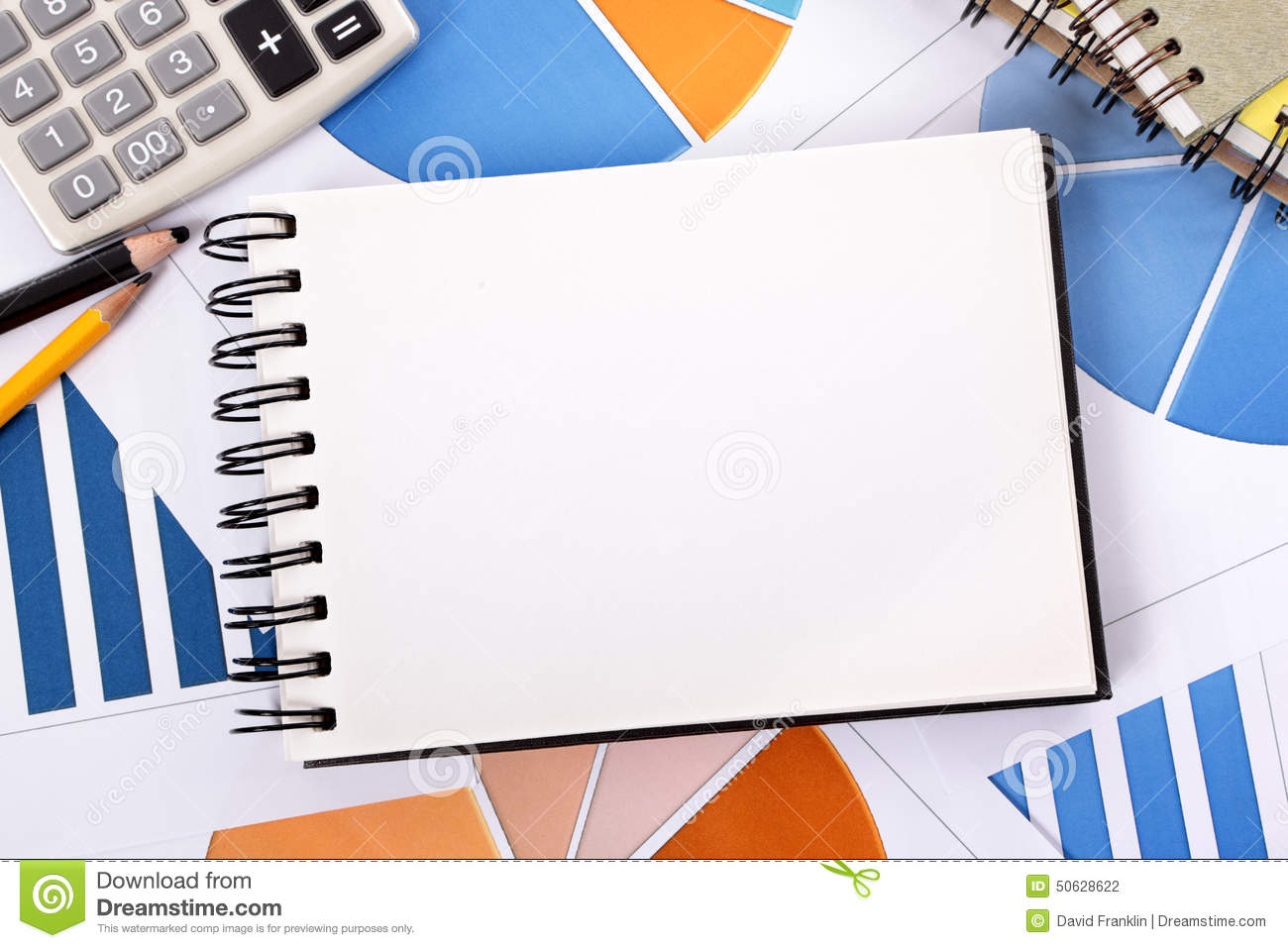 Financial Accounts Background Blank Notebook Copy Space ...
