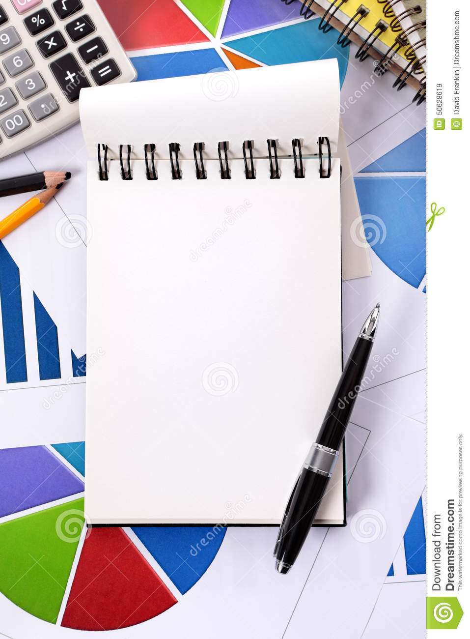 Financial Accounting Background Vertical, Blank Notepad ...