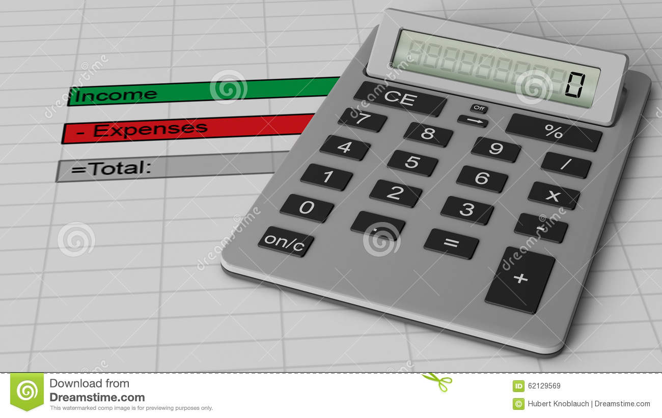 financial budget sheet with income expense data stock image image