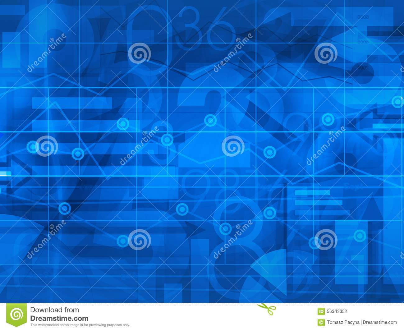 Financial business blue background