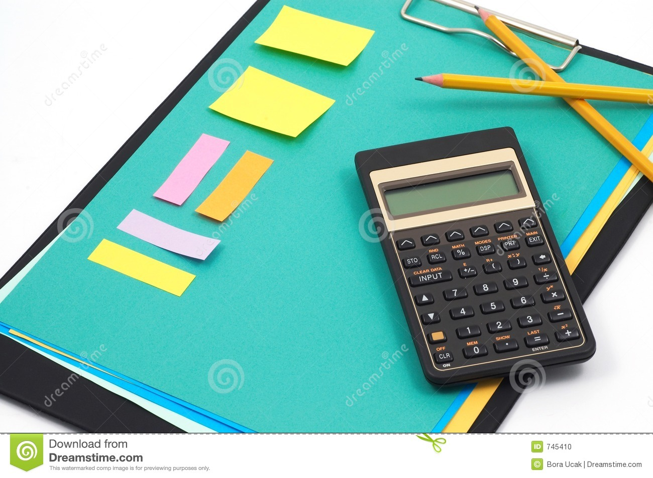 Financial calculator and office supplies