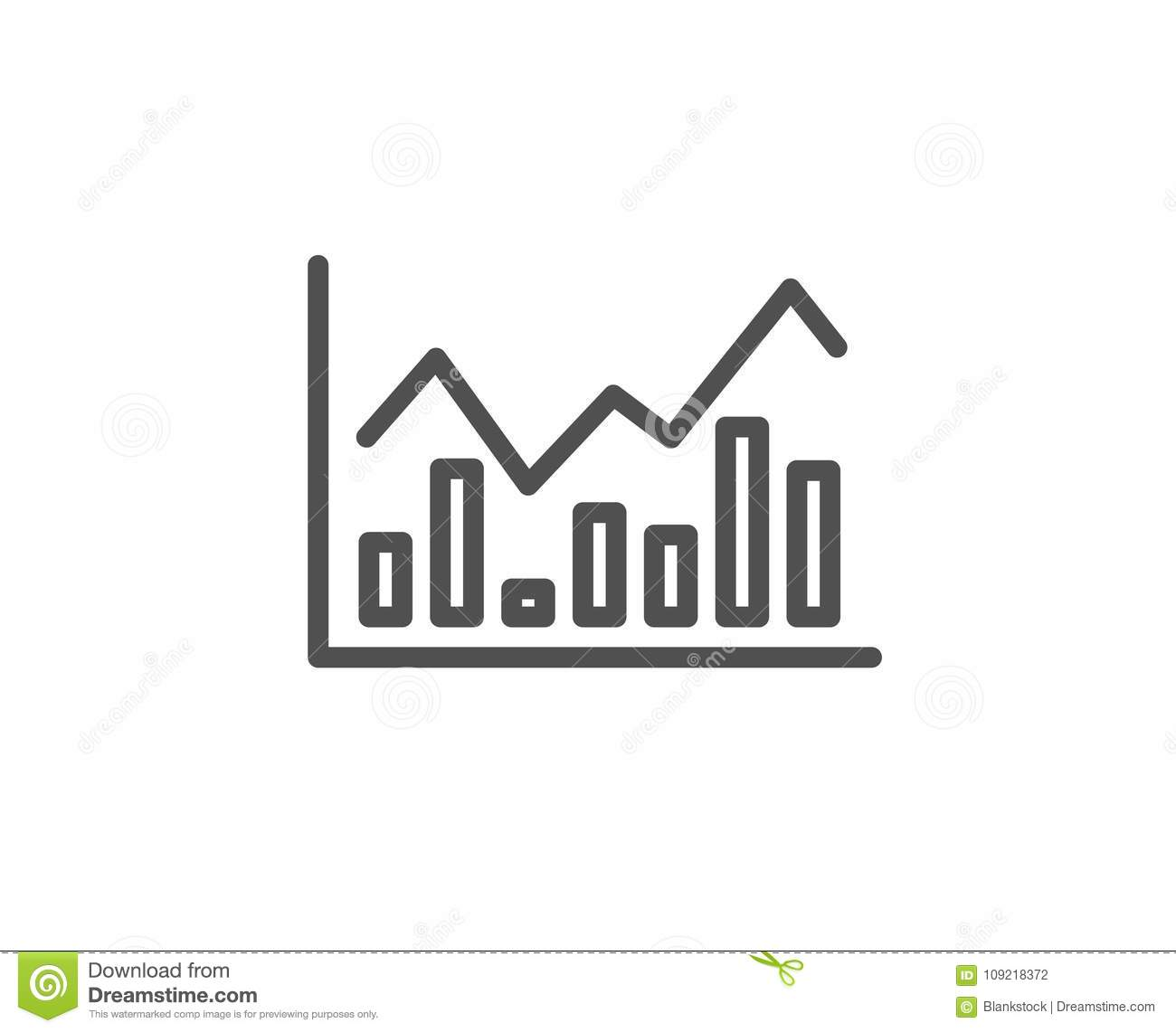Finance Graph: Financial Chart Line Icon. Finance Graph. Stock Vector