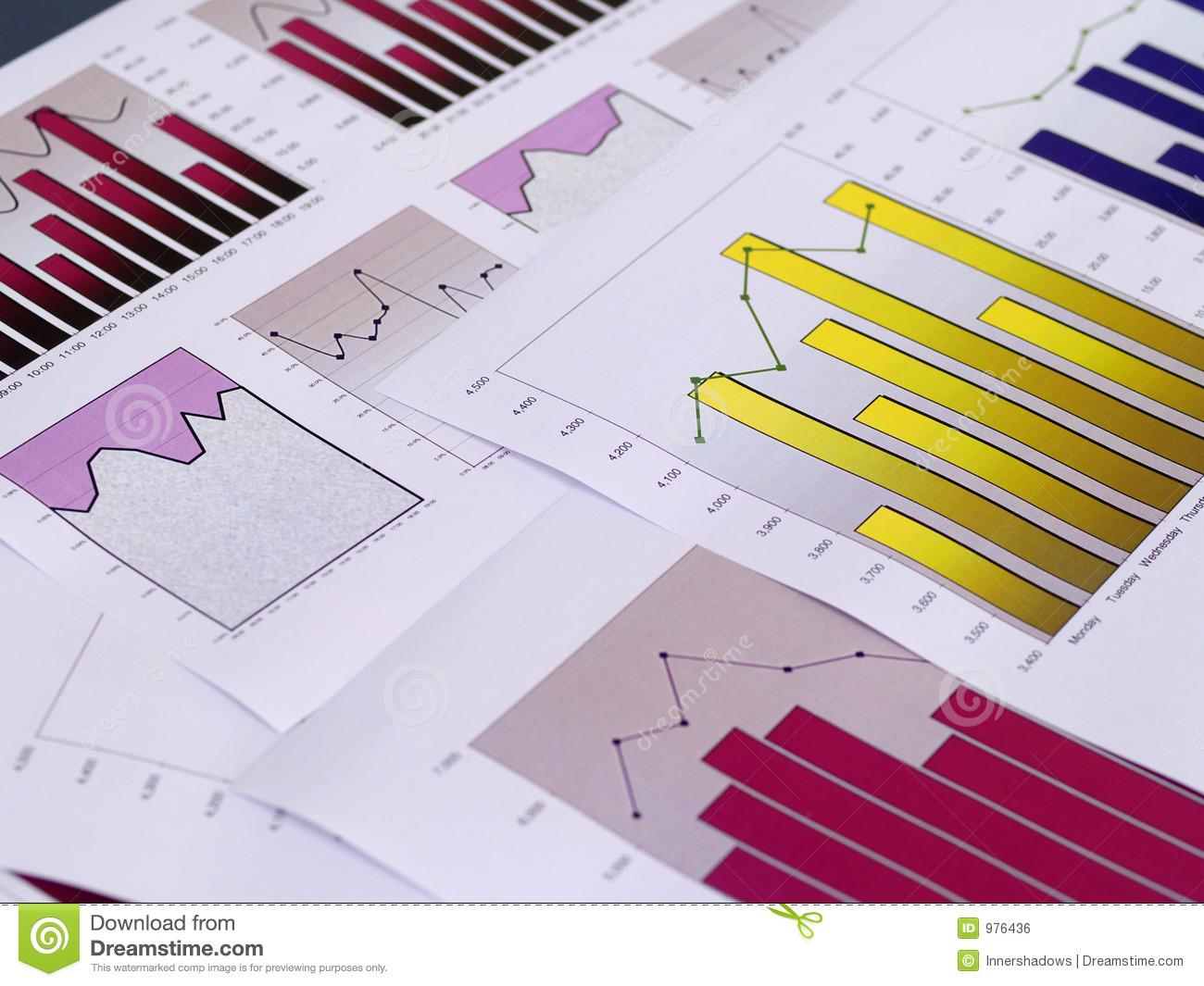 Financial charts stock photo image of chart trade fortune 976436 multiple charts on top of each other geenschuldenfo Image collections
