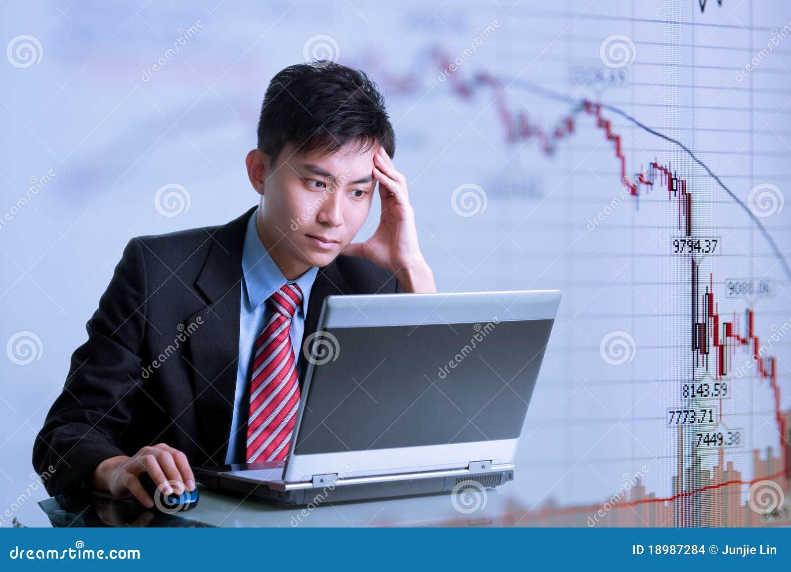 Financial Crisis - Asian Businessman