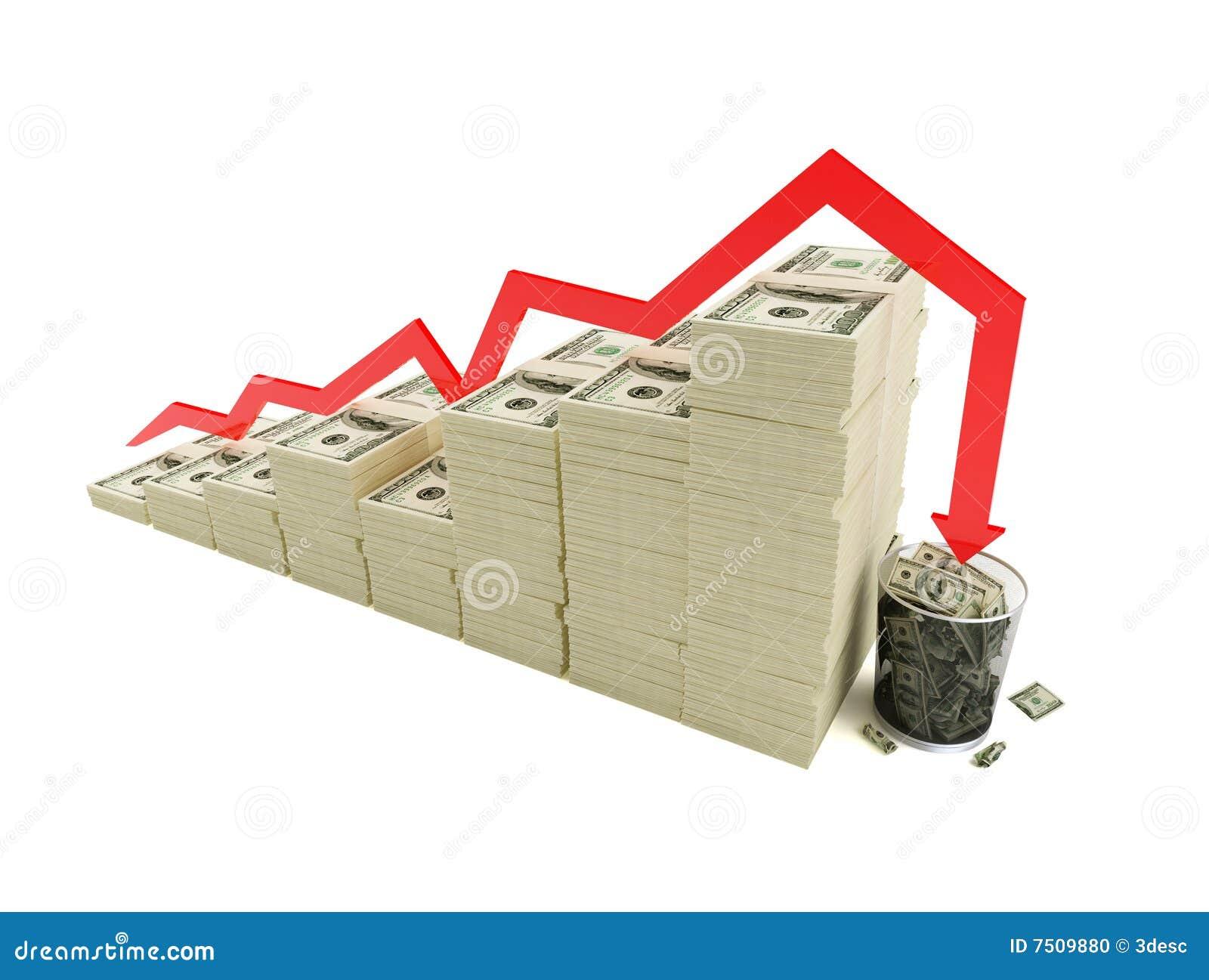 Financial crisis trash bucket