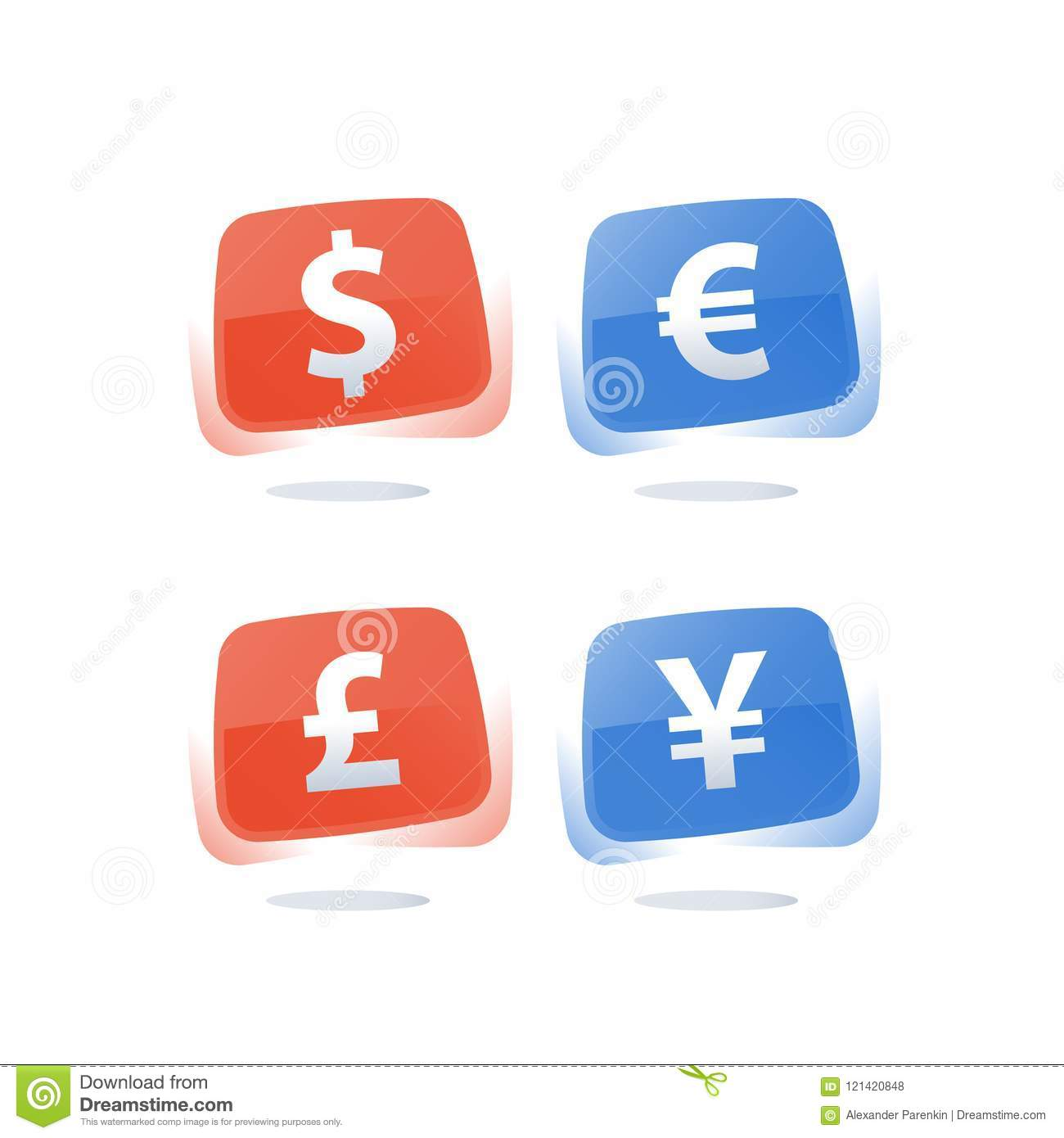 Financial Currency Rate And Exchange Dollar Sign Euro Symbol