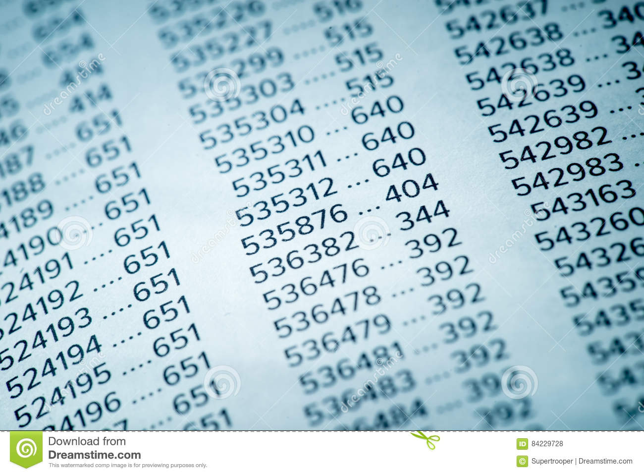 Financial Data Concept With Numbers Stock Photo - Image of formula ...