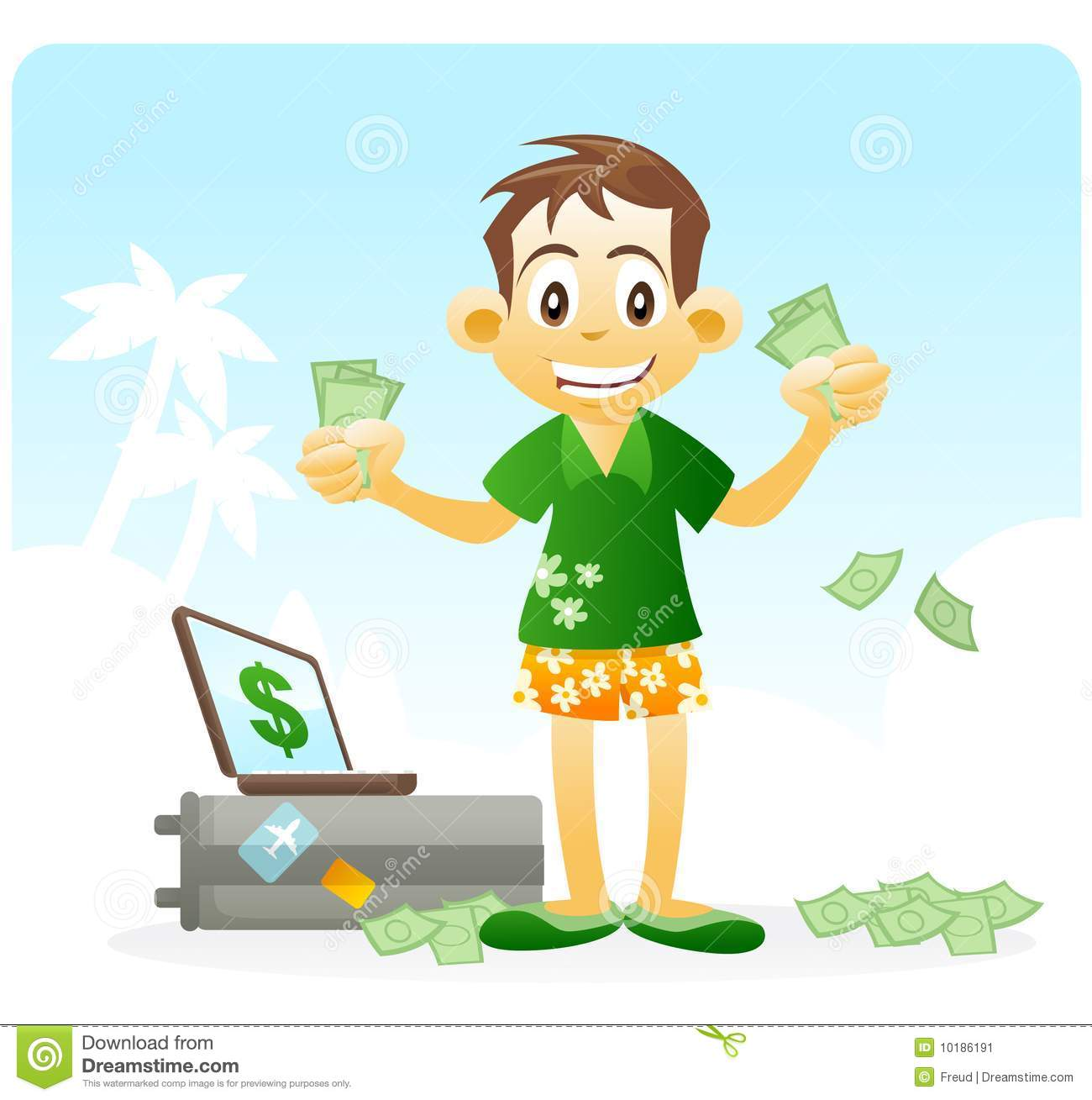 Financial Freedom. Passive Income. Stock Image - Image