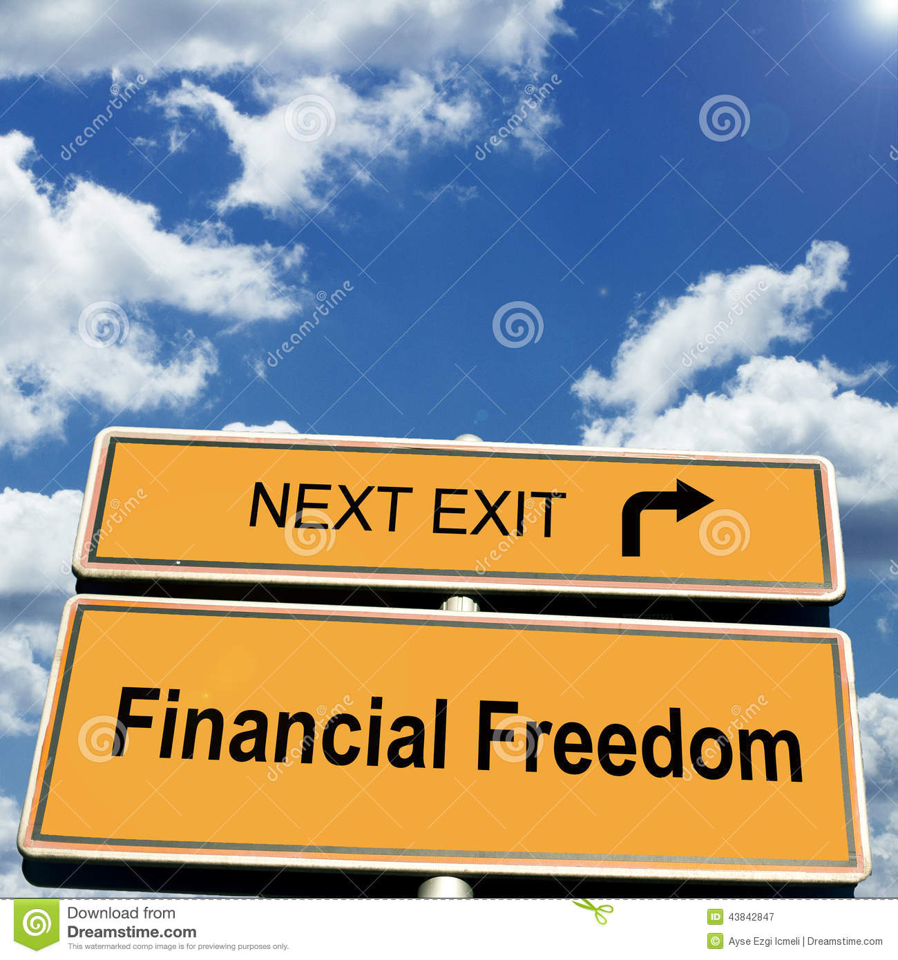 Finance Sign: Financial Freedom