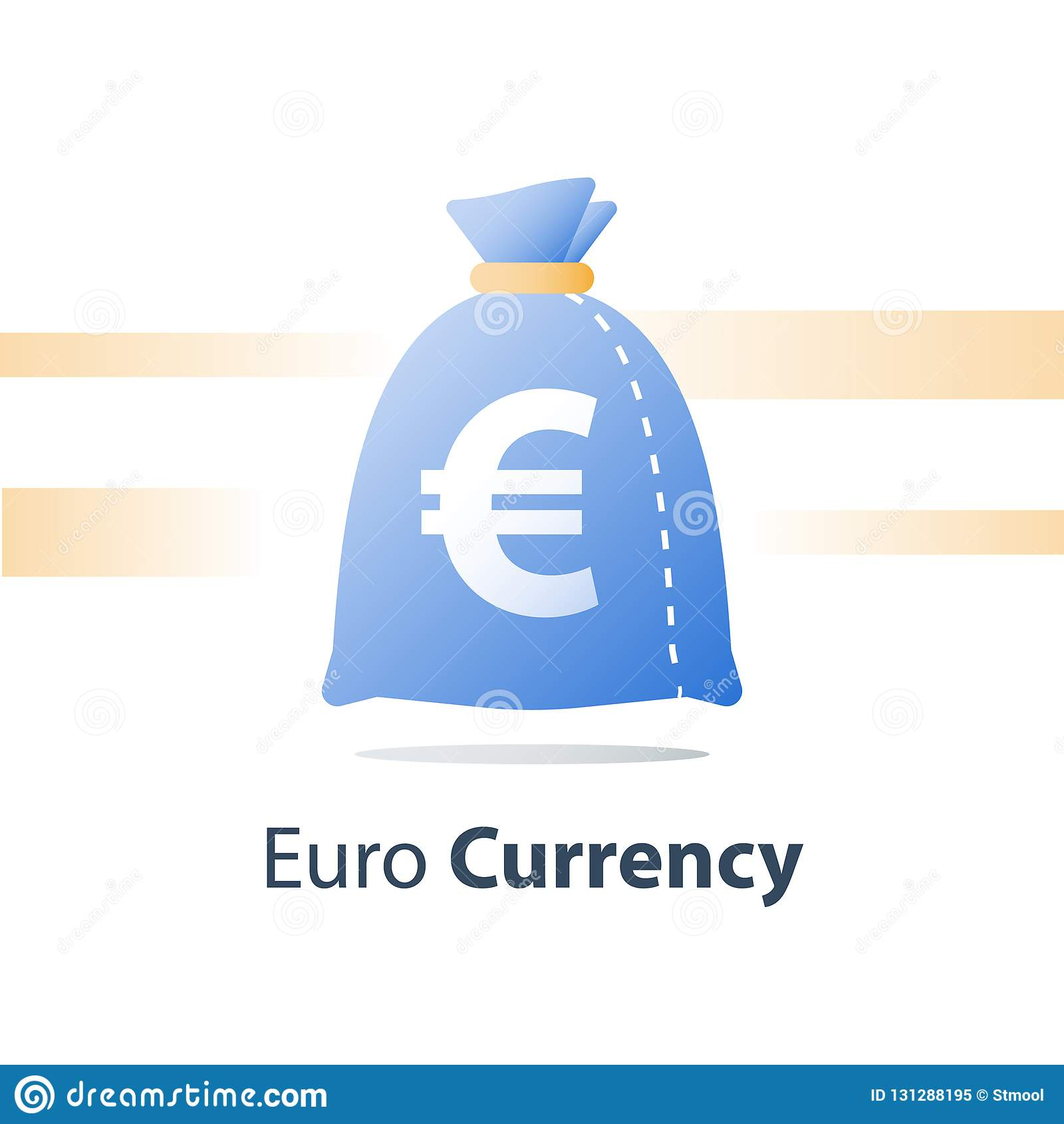 Financial Fund, Money Sack, Euro Currency Bag, Fast Loan