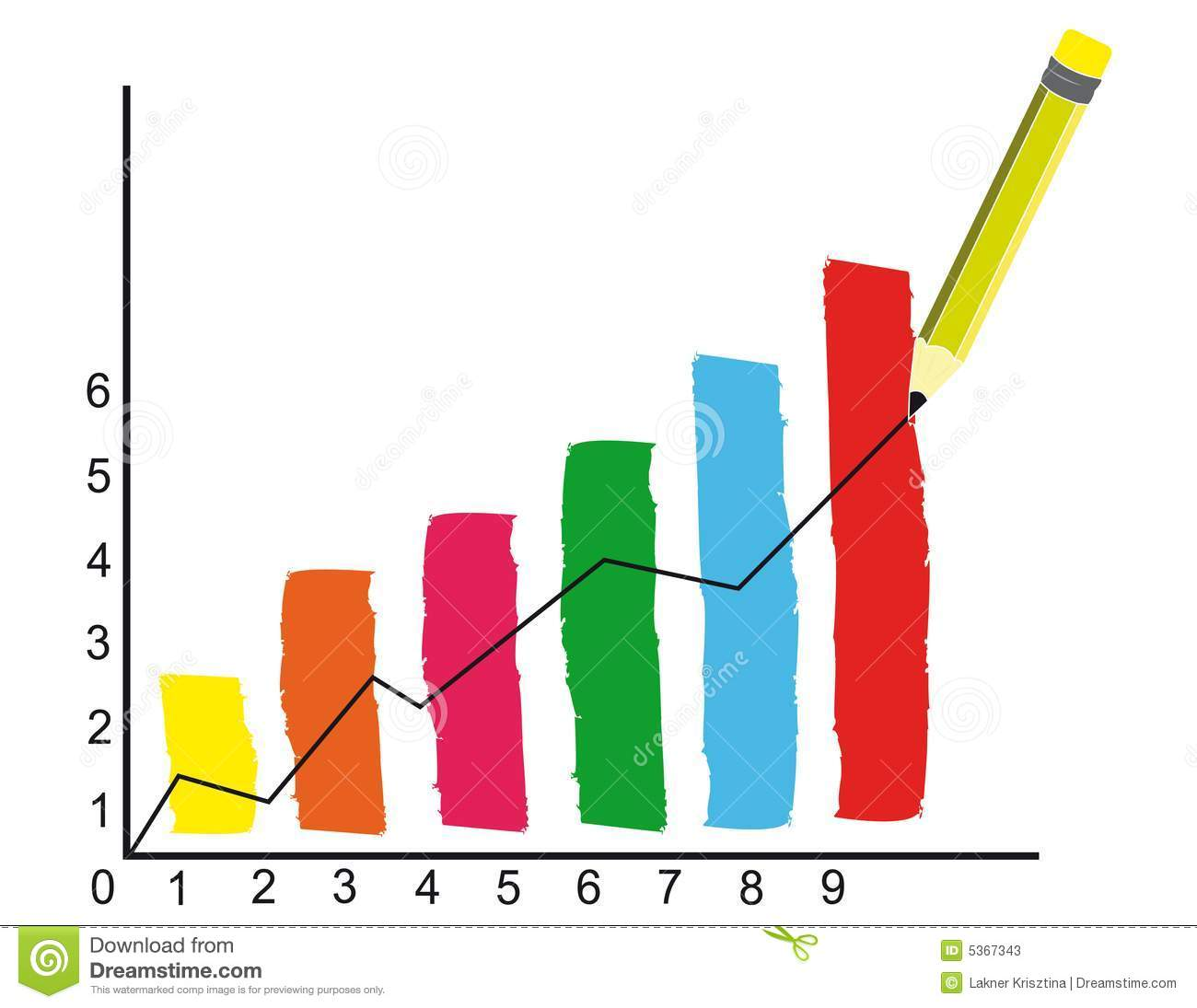 Finance Graph: Financial Graph Stock Vector. Image Of Pencil, Figures