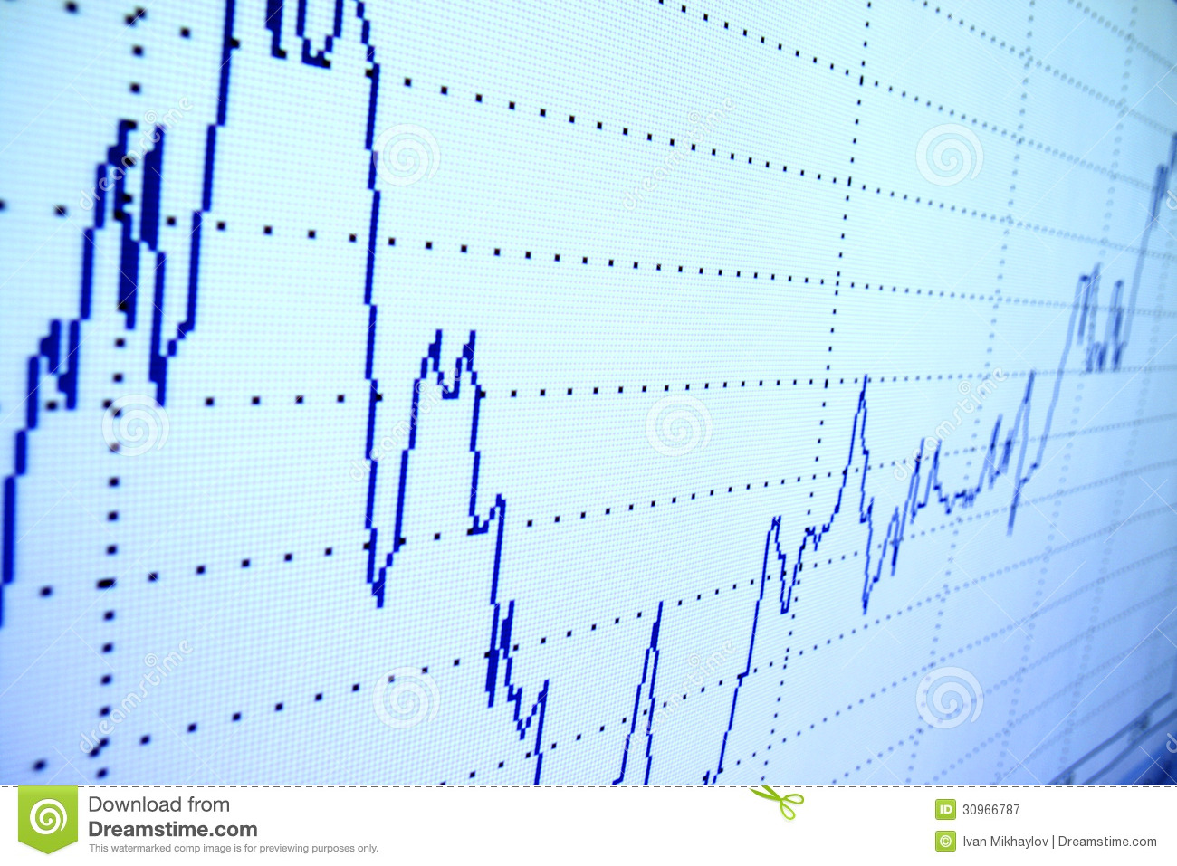 Royalty free stock photography: financial graph