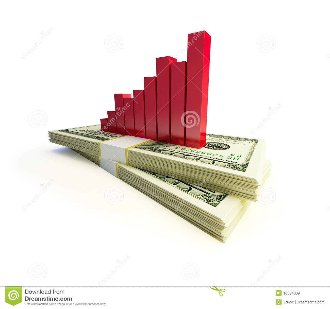 Finance Graphics: Financial Graphic Isolated Royalty Free Stock Images