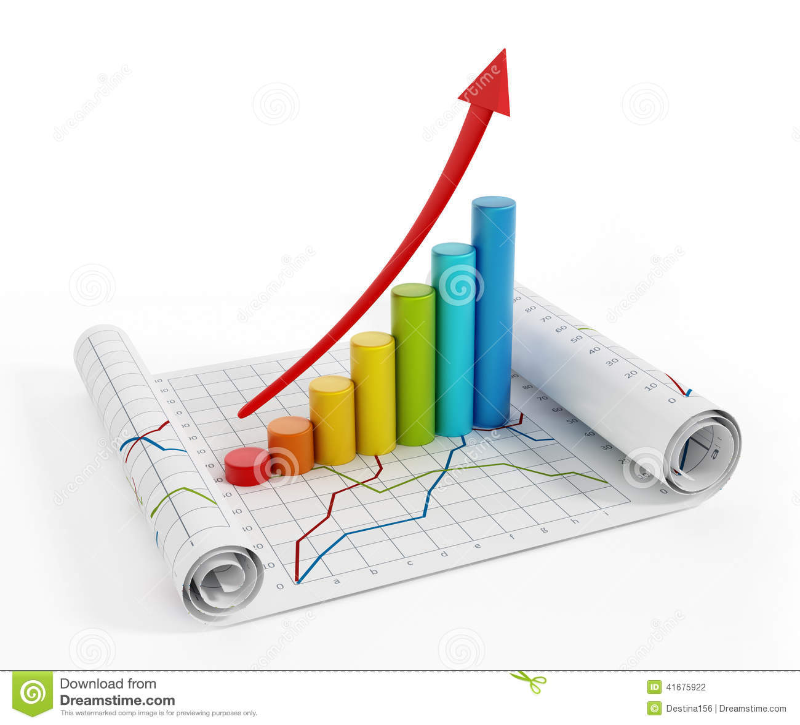 Finance Graphics: Financial Graphics Stock Photo