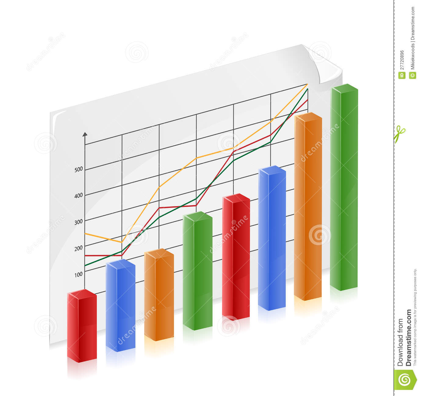 Finance Graph: Financial Growth Chart Stock Vector. Illustration Of
