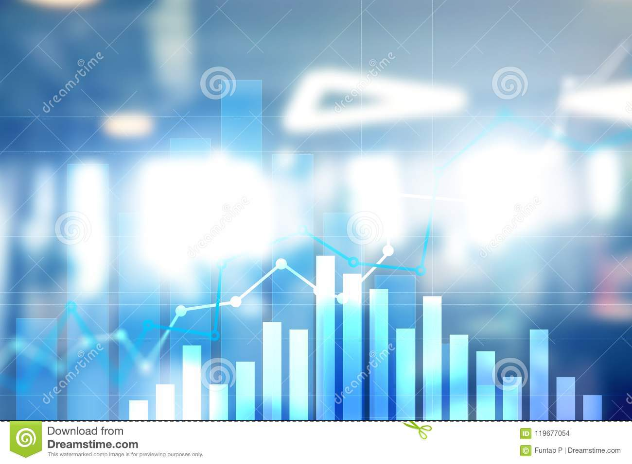 Financial growth graph.Sales increase, marketing strategy concept