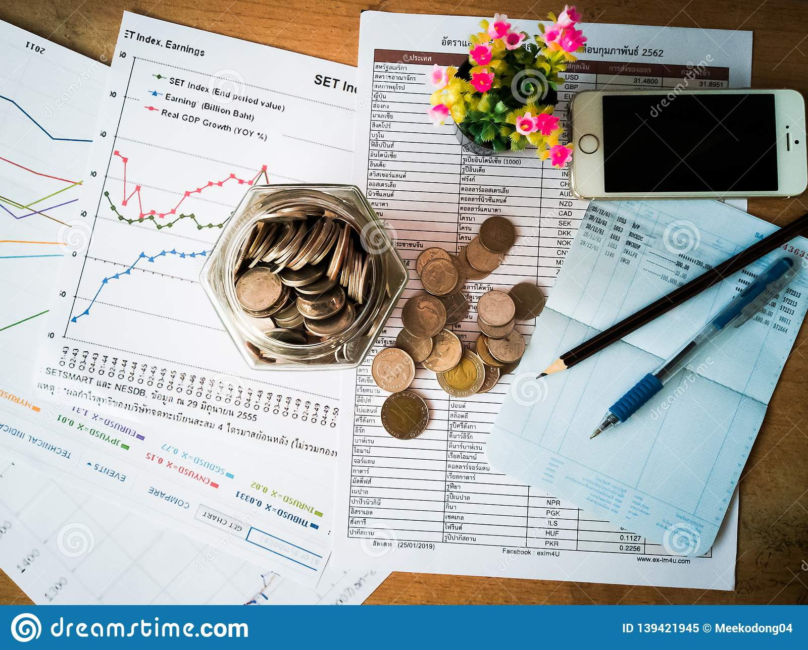 Financial growth and investor planning concepts