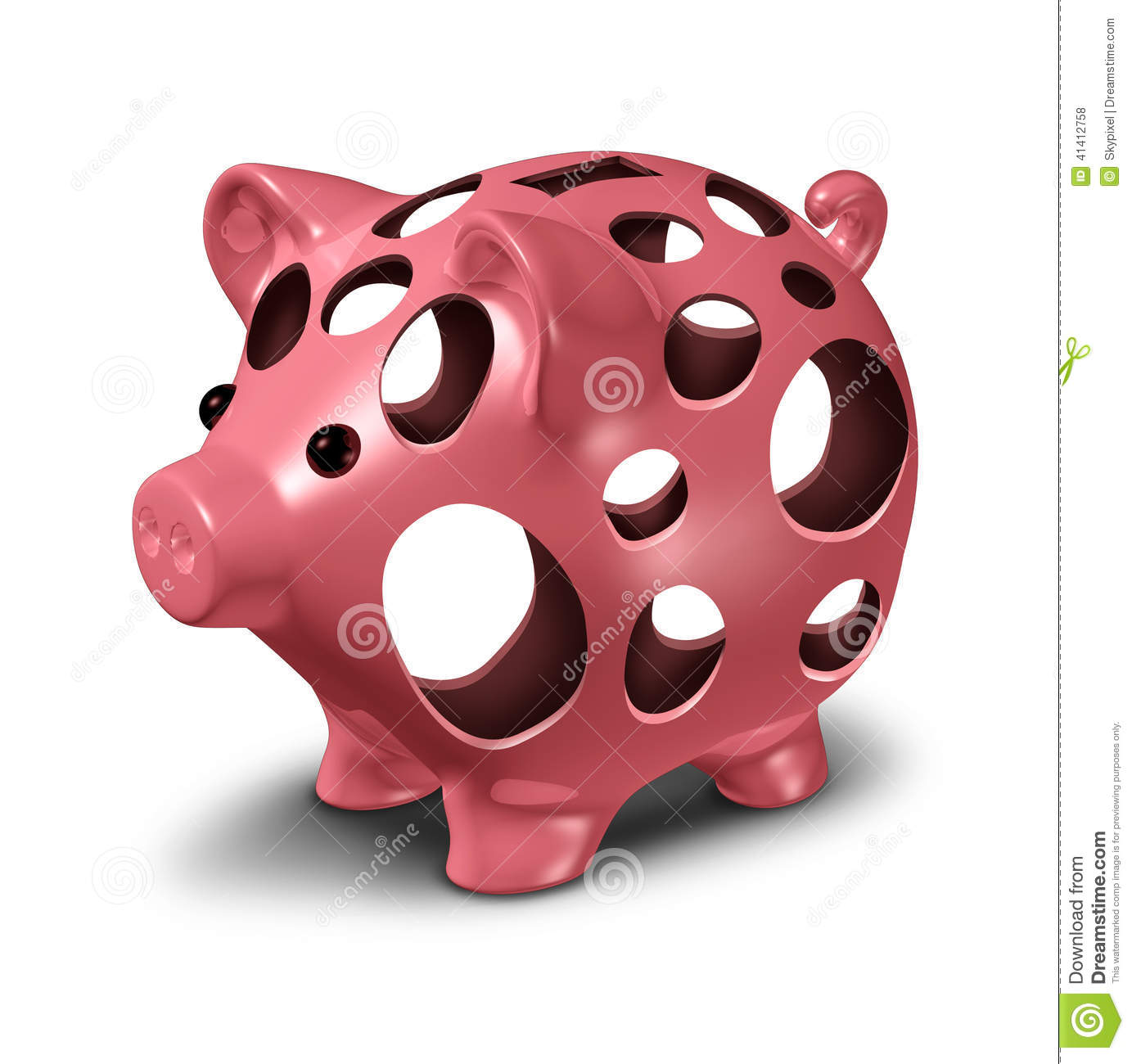 how to cut a hole in a piggy bank