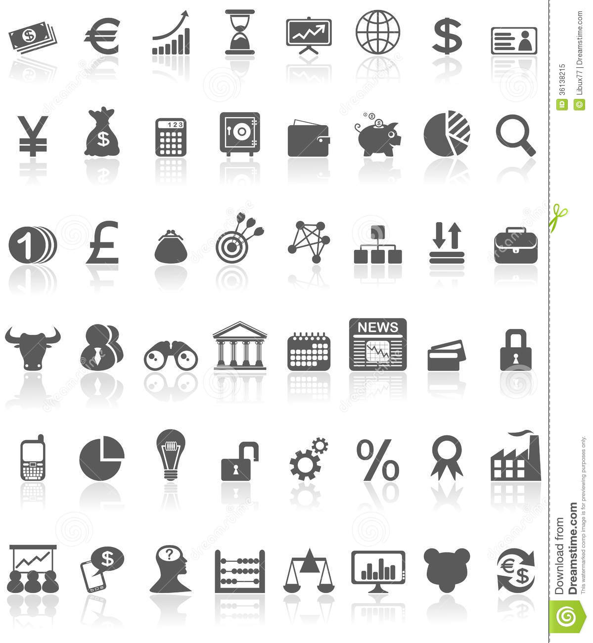 Financial icons collection black on white stock vector royalty free stock photo biocorpaavc Image collections