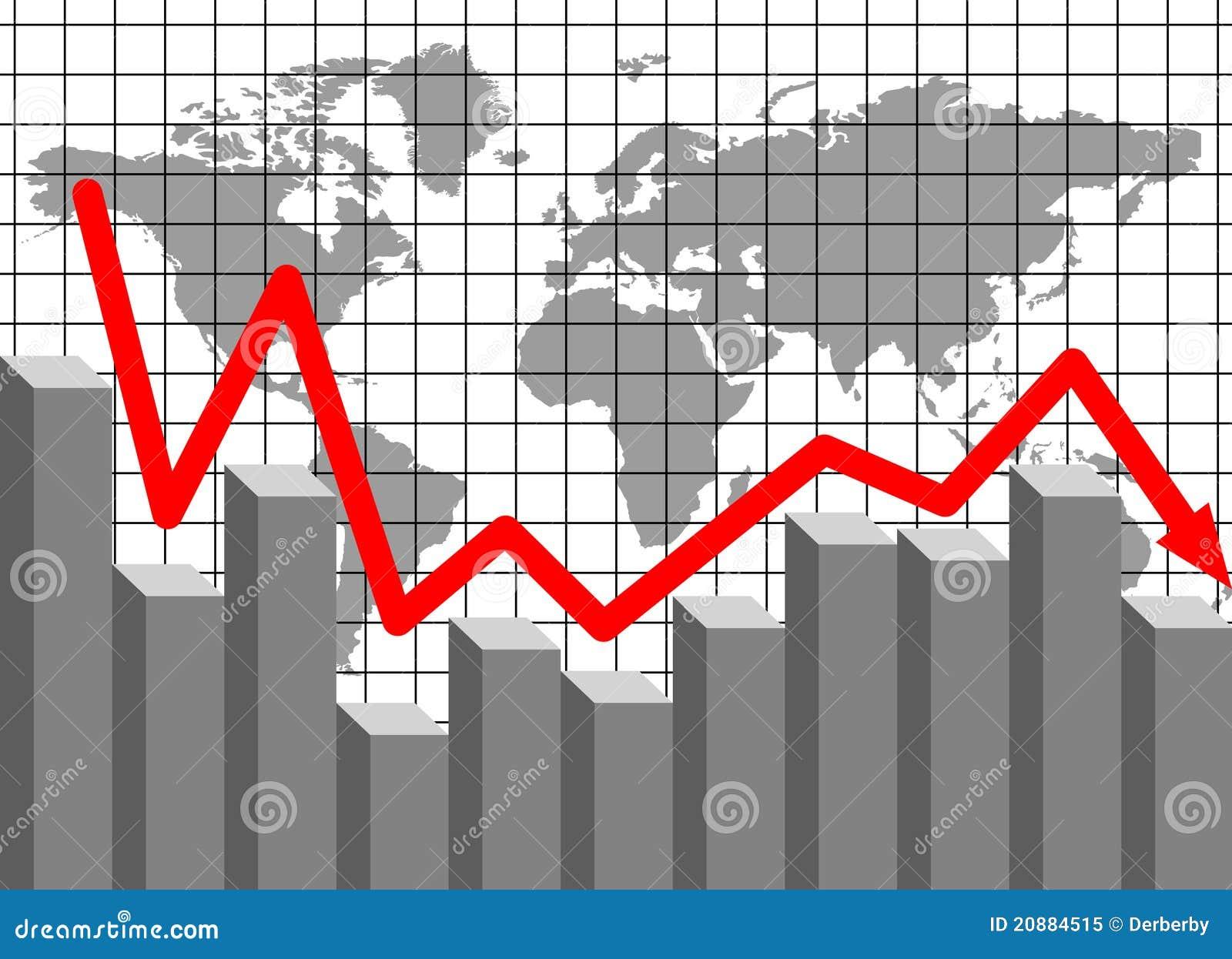Financial loss stock  Illustration of