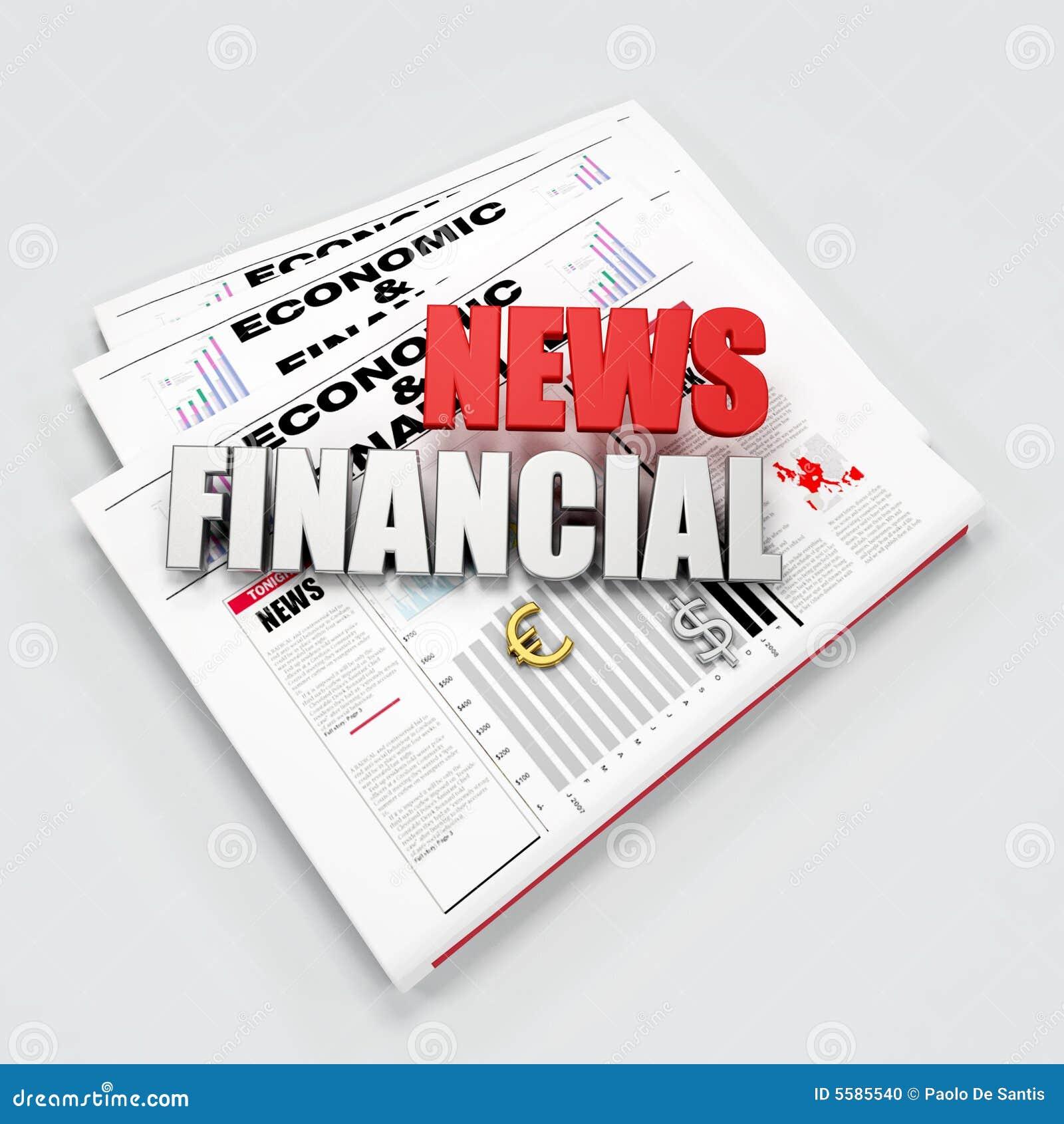 Finance News: Financial News Logo Stock Photo
