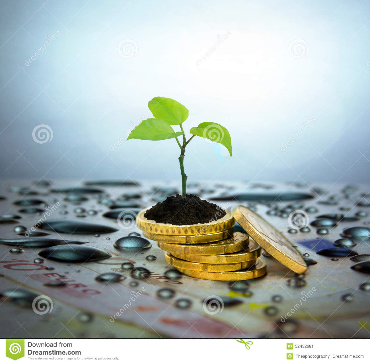 Finance Tree: Financial Planning And Banking Related Series Stock Image